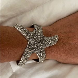 Turks and Caicos silver starfish bracelet